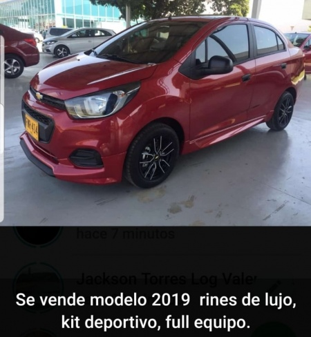 2019 Chevrolet Beat LT con Kit deportivo